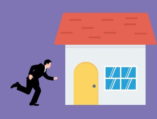 Opdringere verkopers aan deur